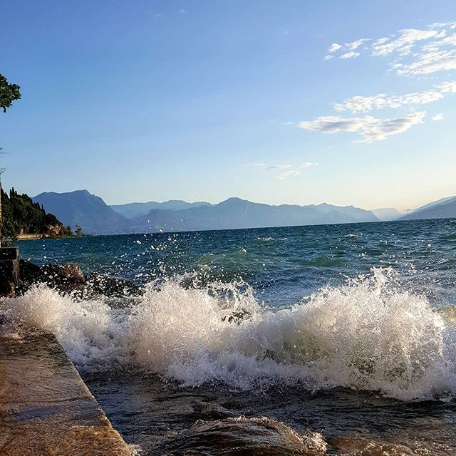 🌊 She is water. Powerful enough to drown you Soft enough to clean you Deep enough to save you 🌊 . #water #gardalake #waves #quotes #deepcleaning #eliyoga #sheiswater #sheissoft #sheisdeep #sirmione