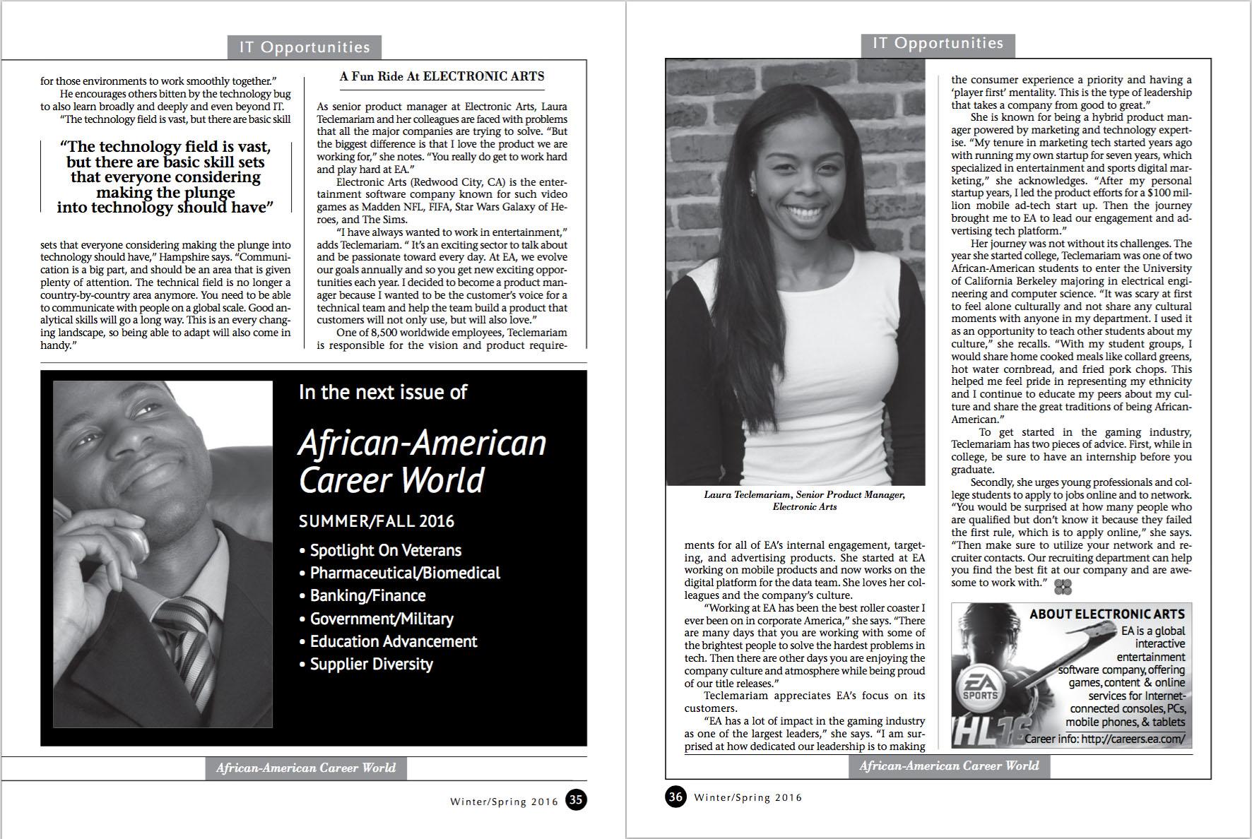 African-American Career World Magazine, February 2016