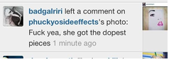 Riri, yes RIHANNA saying this about my work! <3