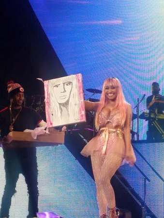 She held it up for thousands to see with the biggest smile on her face!!