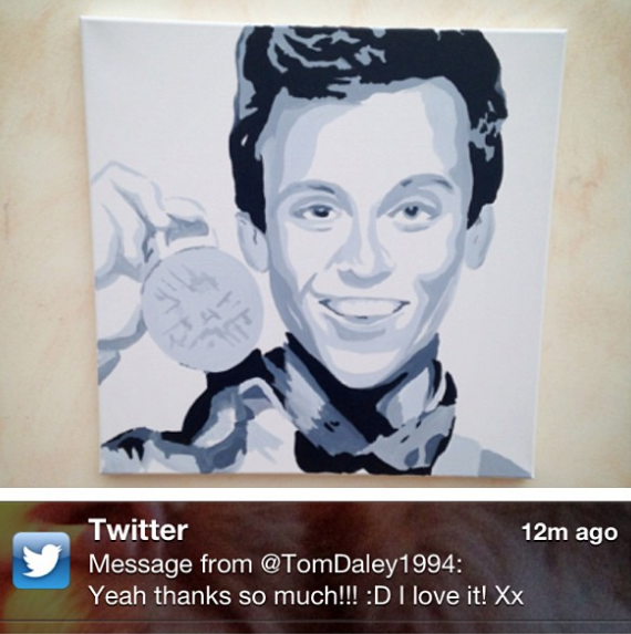 Tom Daley loving it!