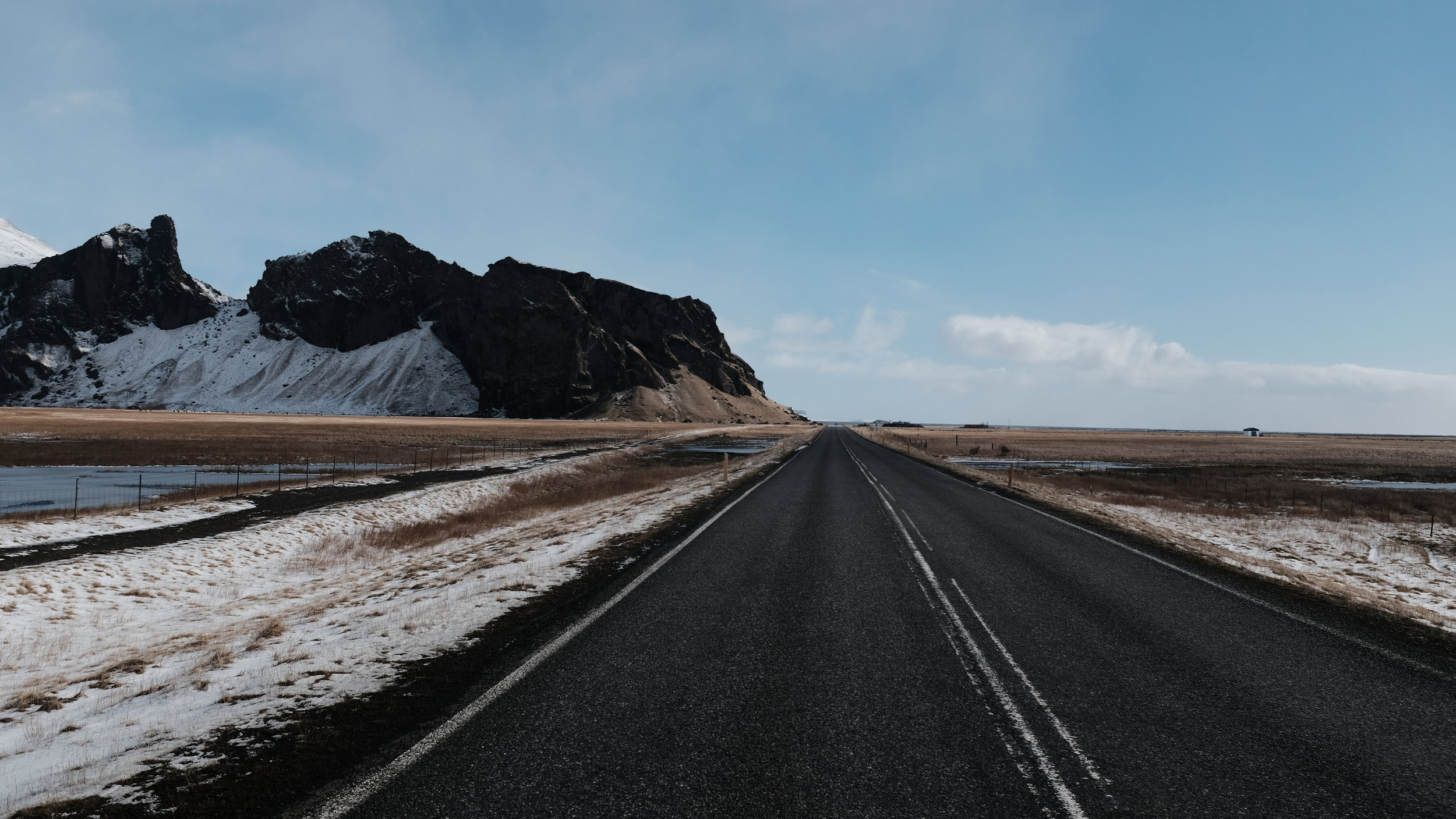 On the Road in Iceland.