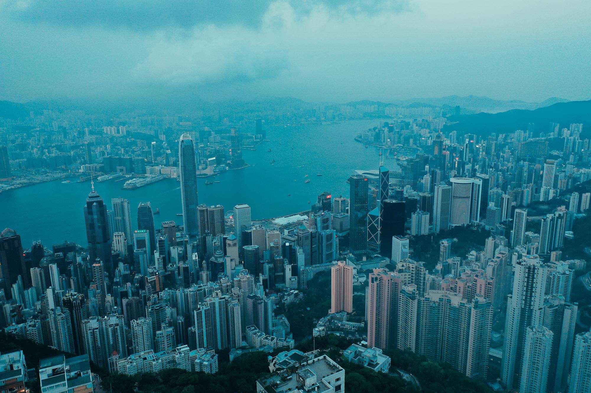 Hong Kong seen from the top of victoria Peak - Copyrights belong to Karim Shaaban - DJI Mavi Pro 2