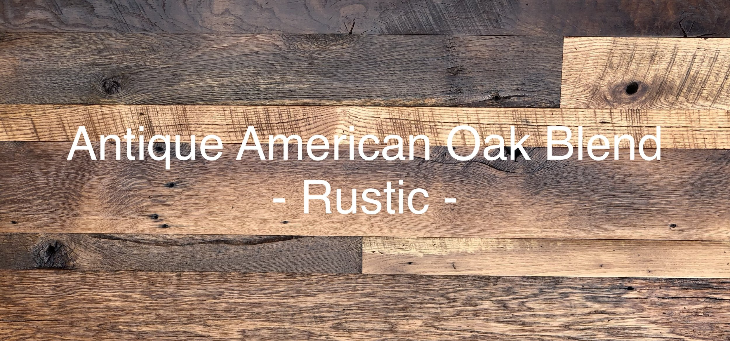 ANTIQUE AMERICAN OAK - RUSTIC -