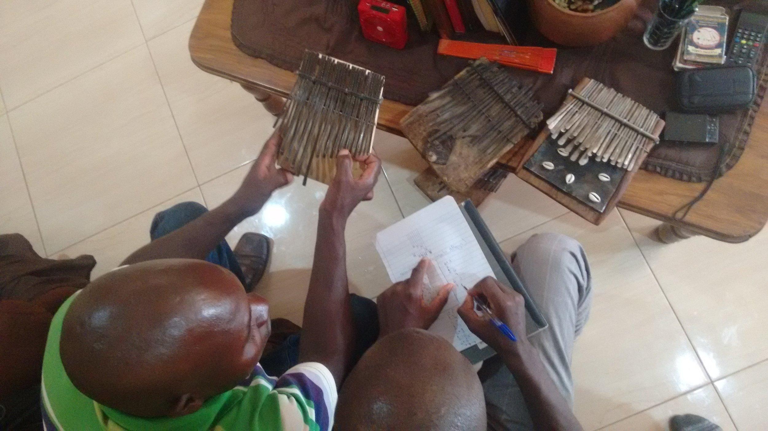 """Kuda Nyaruwabvu learns """"Muchenjedza MuTonga"""" from James Kamwaza in Tynwald, Harare."""