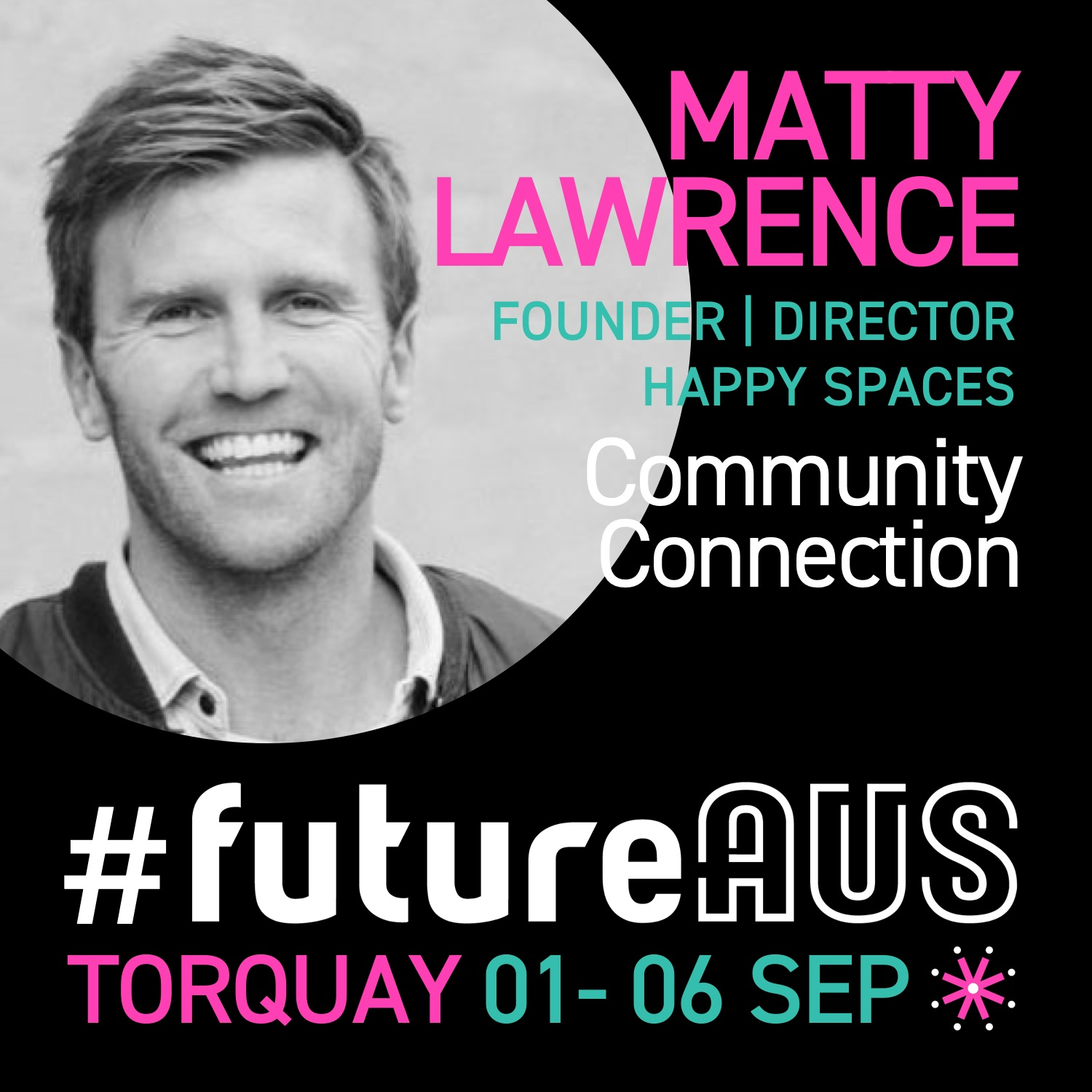"Matty Lawrence  is a community maker, purpose finder, wellbeing champion and founder of Happy Spaces, a growing ecosystem of beachside suburban and regional B-Corp coworking and community spaces (Hampton, Black Rock and Torquay) with a focus on cultivating local connections, belonging and wellbeing. Happy Spaces are ambassadors for Gross National Happiness, a holistic and sustainable approach to development, which balances material and non-material values with the conviction that humans want to search for happiness. This year Matty will lead a group on a two-week Himalayan pilgrimage to the Economics of Happiness conference, amidst the awe-inspiring landscape and community of Ladakh in India. Matty will share his insights on  ""the worlds greatest untapped resource"" (community connection)"