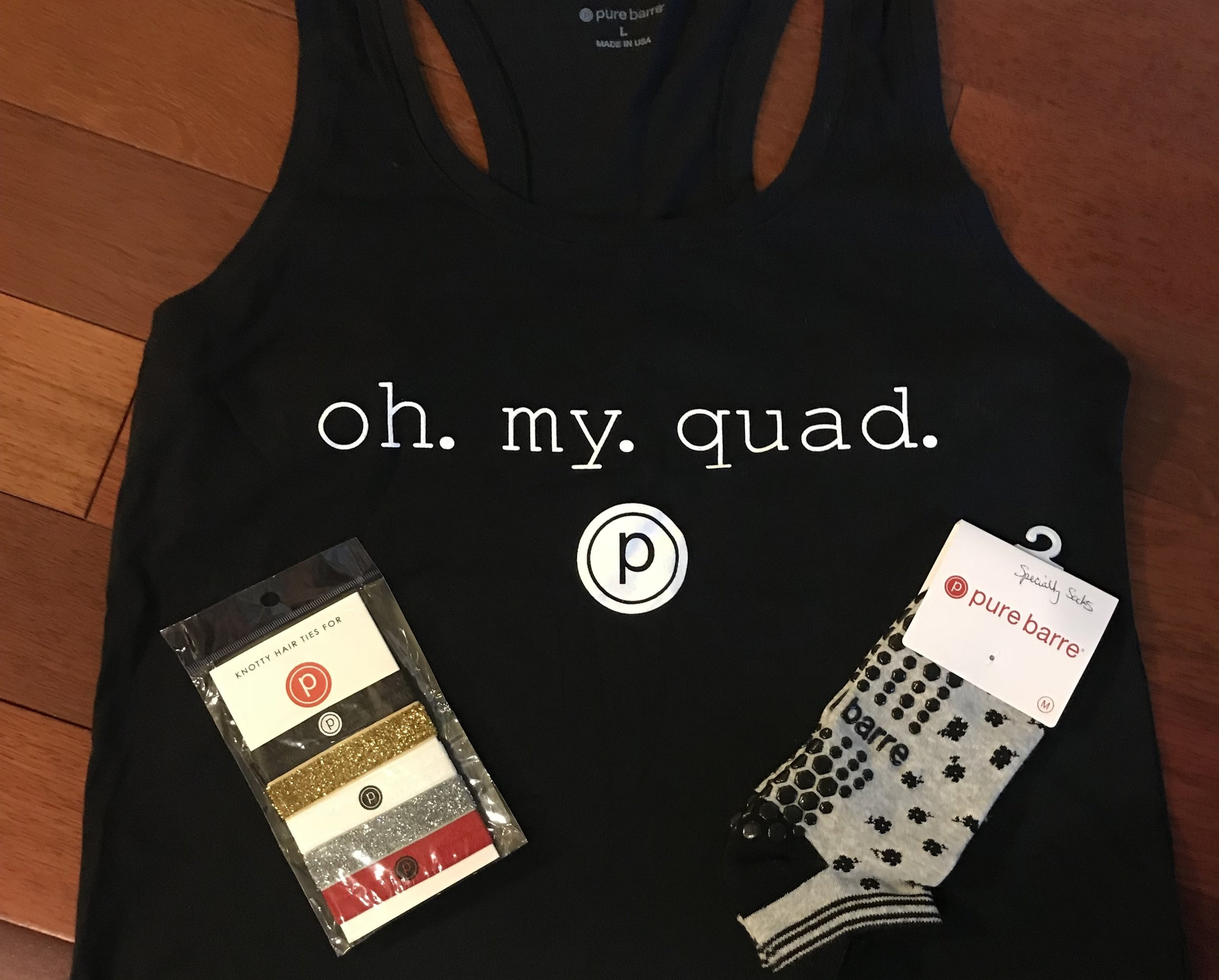 PURE BARRE PACKAGE   Check out the best barre technique in this high-intensity, low-impact, total body workout at Pure Barre Greenville. Included is an intro month of (4) weeks of unlimited classes, tank top (size L), hair ties and specialty barre socks.  DONOR: Pure Barre Greenville VALUE: $200
