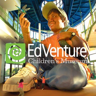 EDVENTURE CHILDREN'S MUSEUM PASSES   Check out Eddie, the world's largest child, while you explore 92,000 square feet of fun mixed with interactive exhibits and activities to excite your mind and spark your imagination. Use these (4) complimentary passes to visit EdVenture in Columbia, home to the South's largest children's museum.  DONOR: EdVenture Children's Museum VALUE: $48
