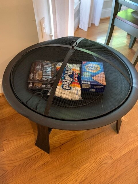 """""""S'MORE CAMPING"""" FIRE PIT   This wonderful outdoor fire pit will keep you cozy along and all the fixings for some quality time with your family making yummy s'mores.  DONOR: 2nd Grade Classes VALUE: $50"""