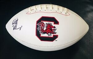 USC AUTOGRAPHED FOOTBALL   Add this full-size football autographed by USC's football coach, Will Muschamp, to your collection of memorabilia.  DONOR: BV PTA and USC Athletics VALUE: Priceless