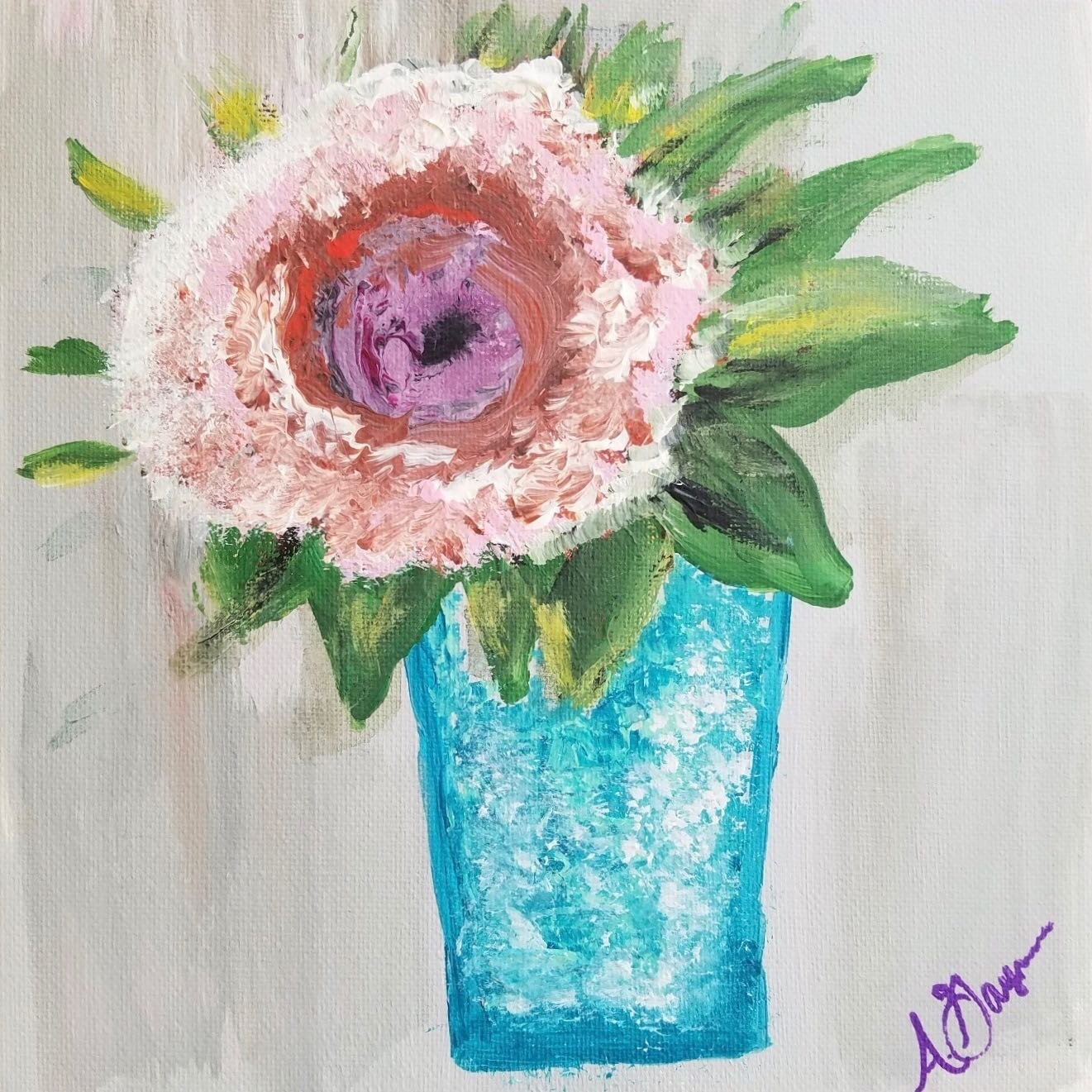 """""""SIMPLICITY"""" FRAMED ACRYLIC PAINTING   """"Simplicity"""" is sure to capture your eye. Take home this 8x10 framed acrylic on canvas painting.  DONOR: Ashley Gaymon VALUE: $40"""