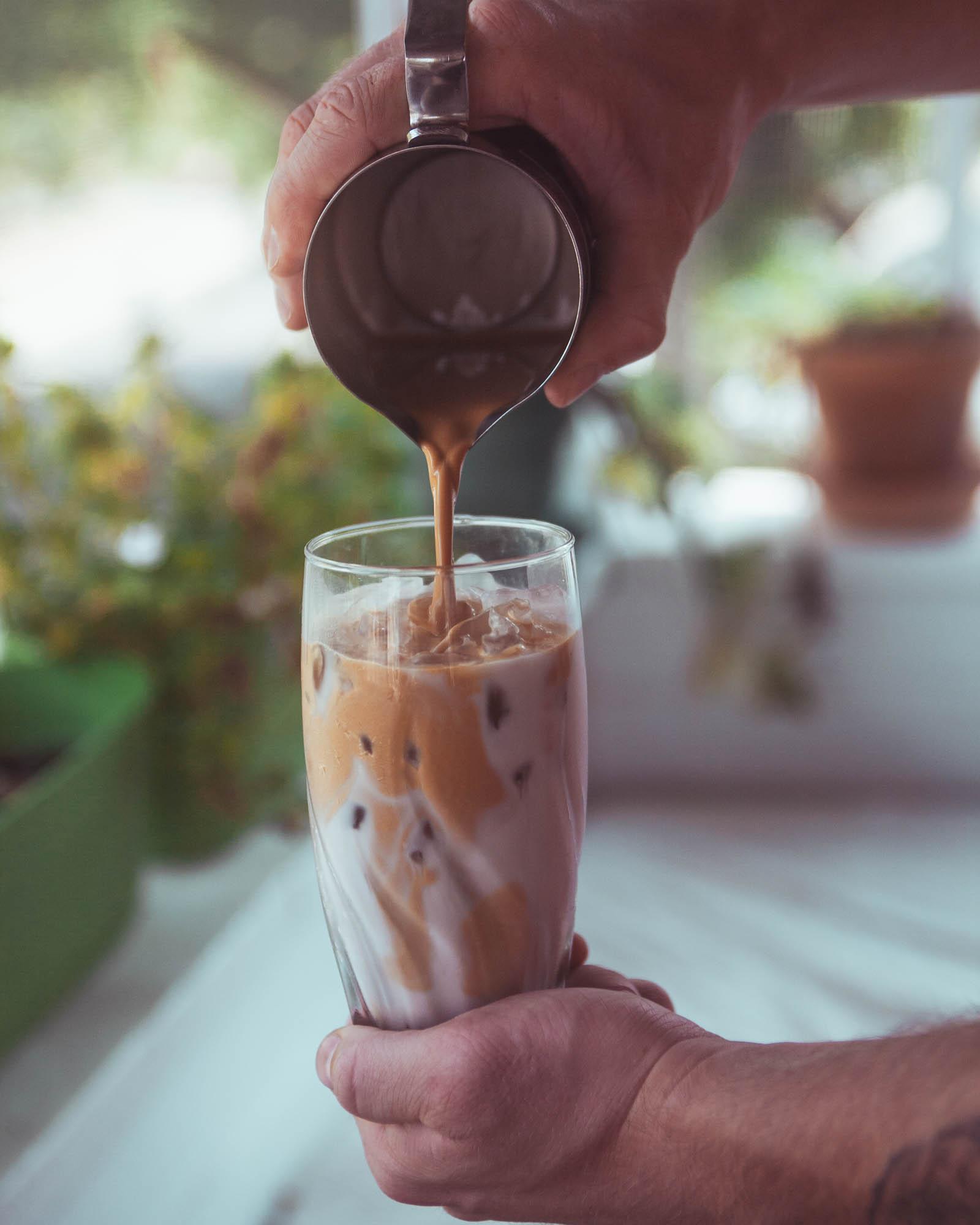 Damn Good Iced Latte. Best Iced Latte Ever. Best Summertime Latte. Delicious Summer time latte.