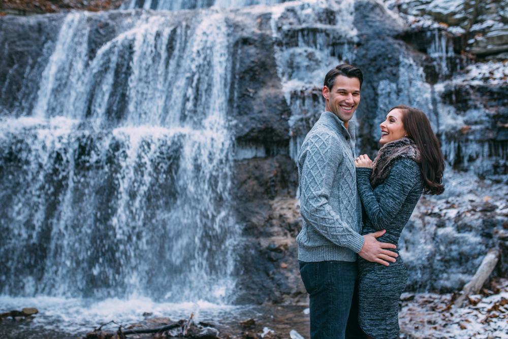 Sherman Falls Winter Engagement Hamilton Wedding Photographer Sounds Like Yellow Photography soundslikeyellowphotography.com Toronto wedding Photographer