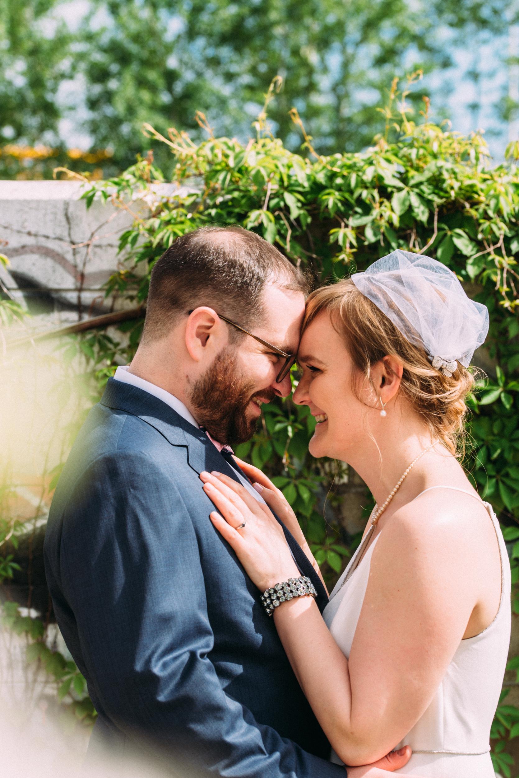 Bride and Groom Toronto Wedding at Airship 37 with Soundslikeyellowphotography