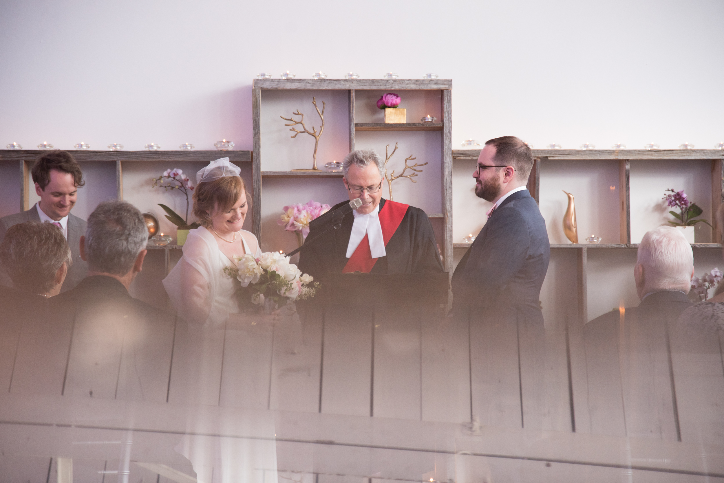 Toronto Wedding Ceremony at Airship 37 with Soundslikeyellowphotography