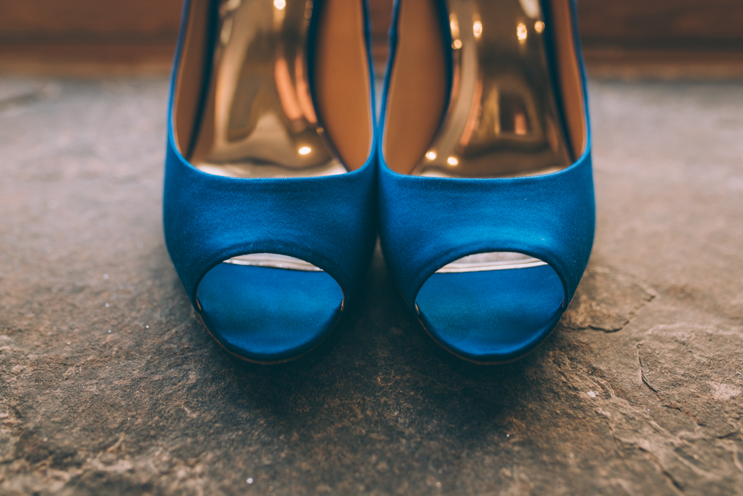 Ancaster Mill Wedding with Sounds like yellow photography- blue wedding shoes