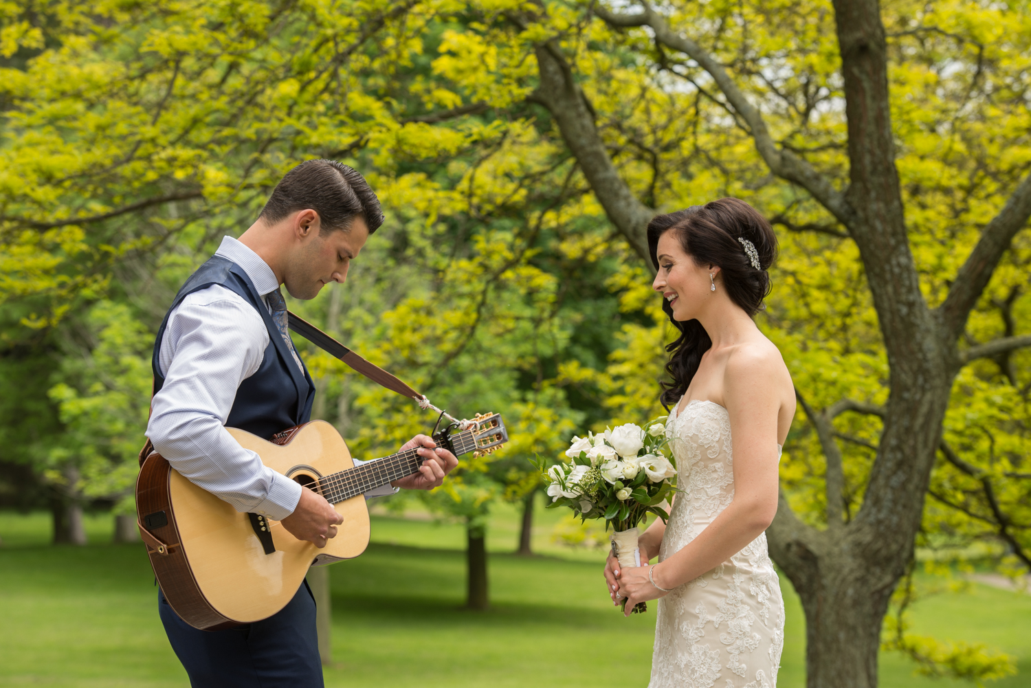 Ancaster Mill wedding photography with sounds like yellow photography