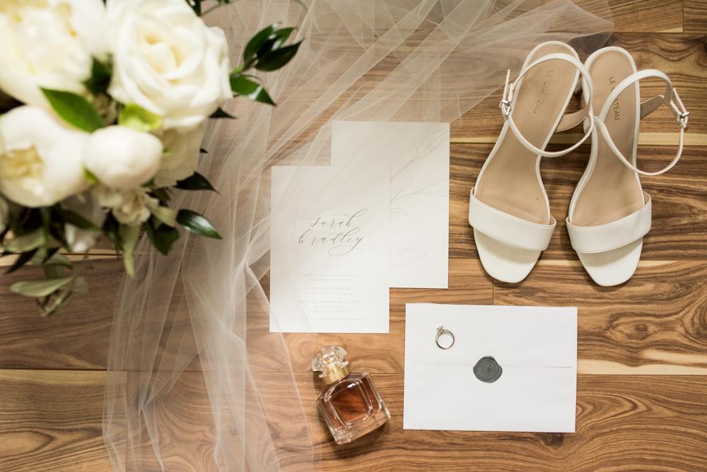 Bride flatlay with Soundslikeyellowphotography