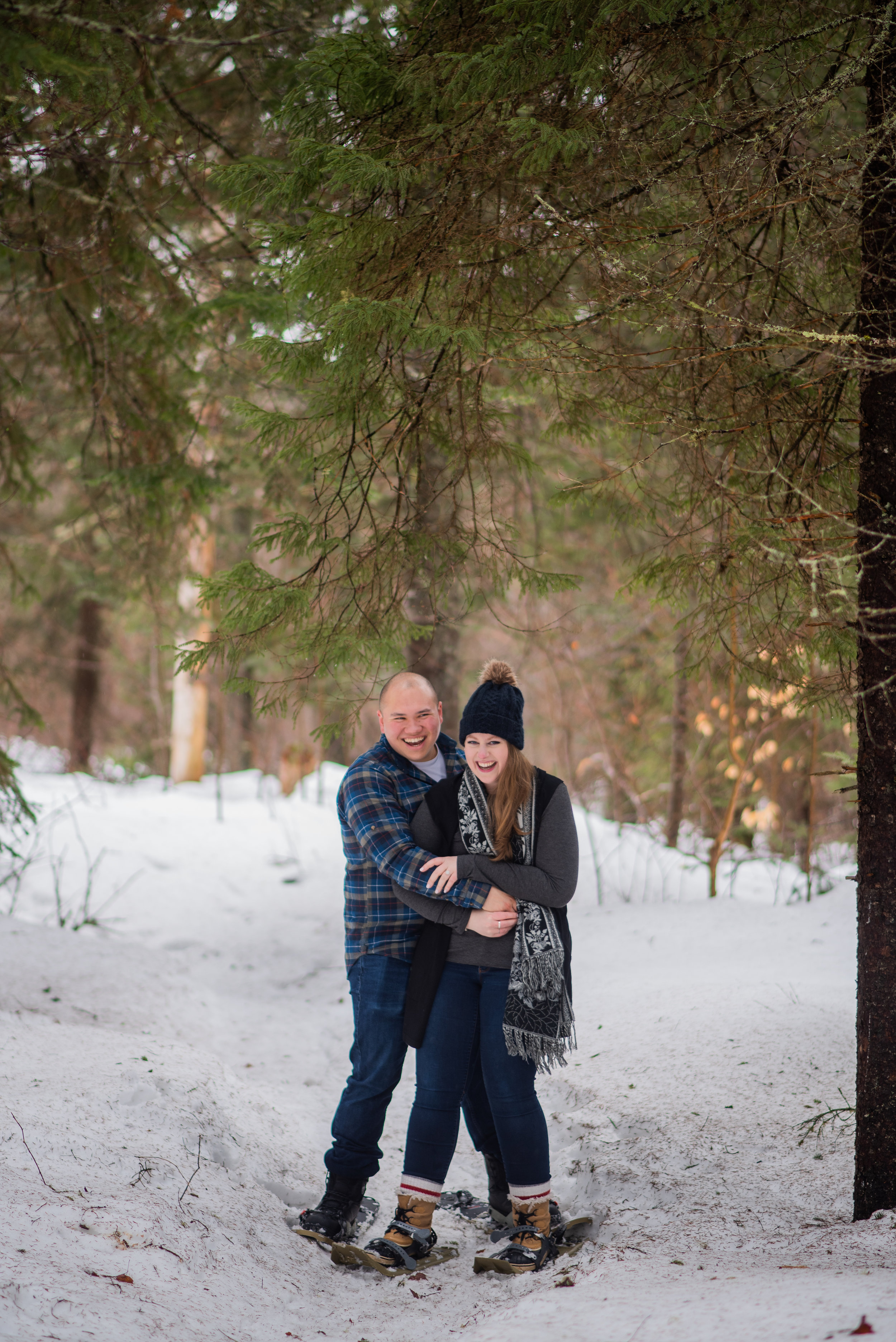 Algonquin park winter engagement session with soundslikeyellowphotography