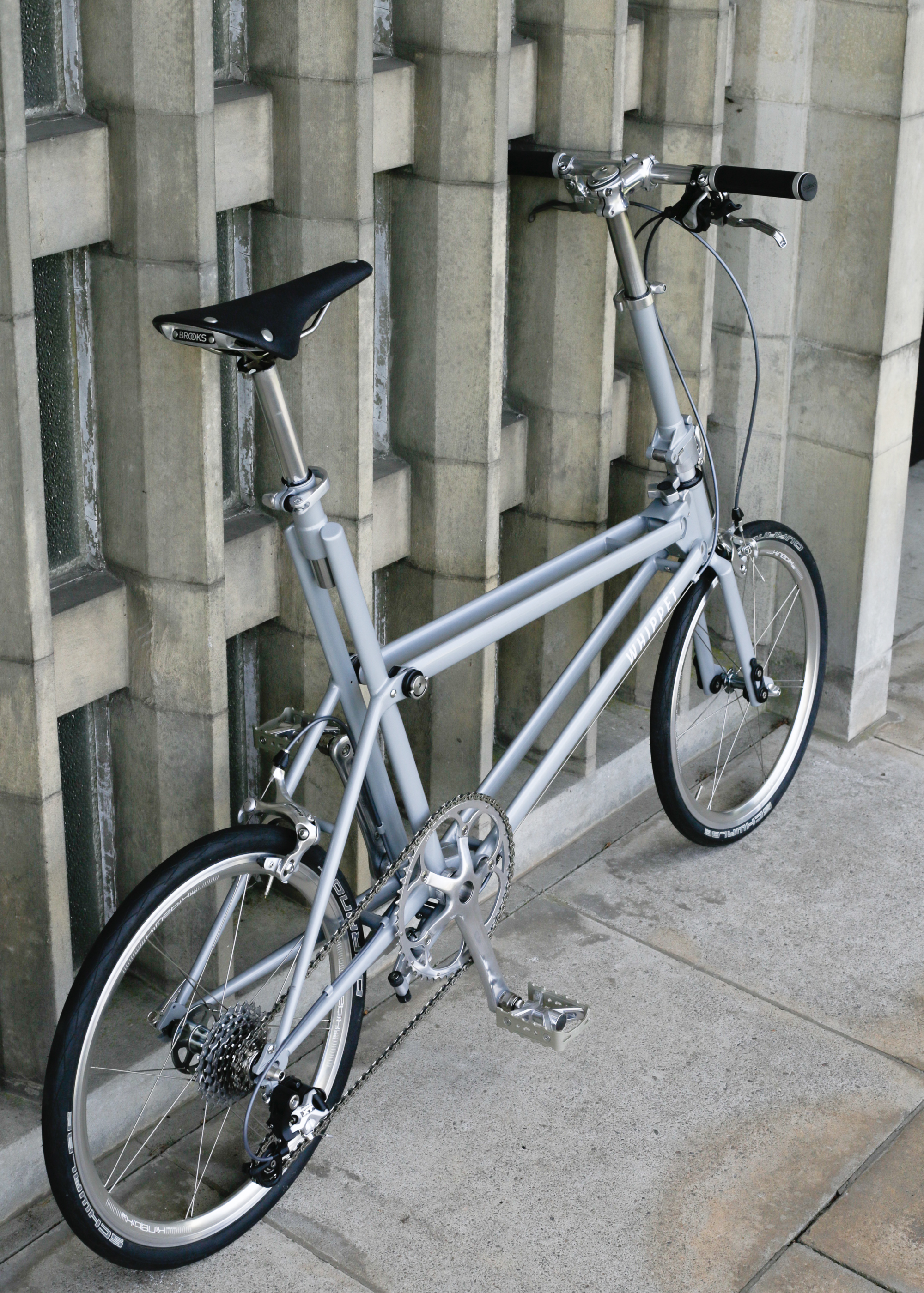Whippet Bicycle - rear view of twin tubes