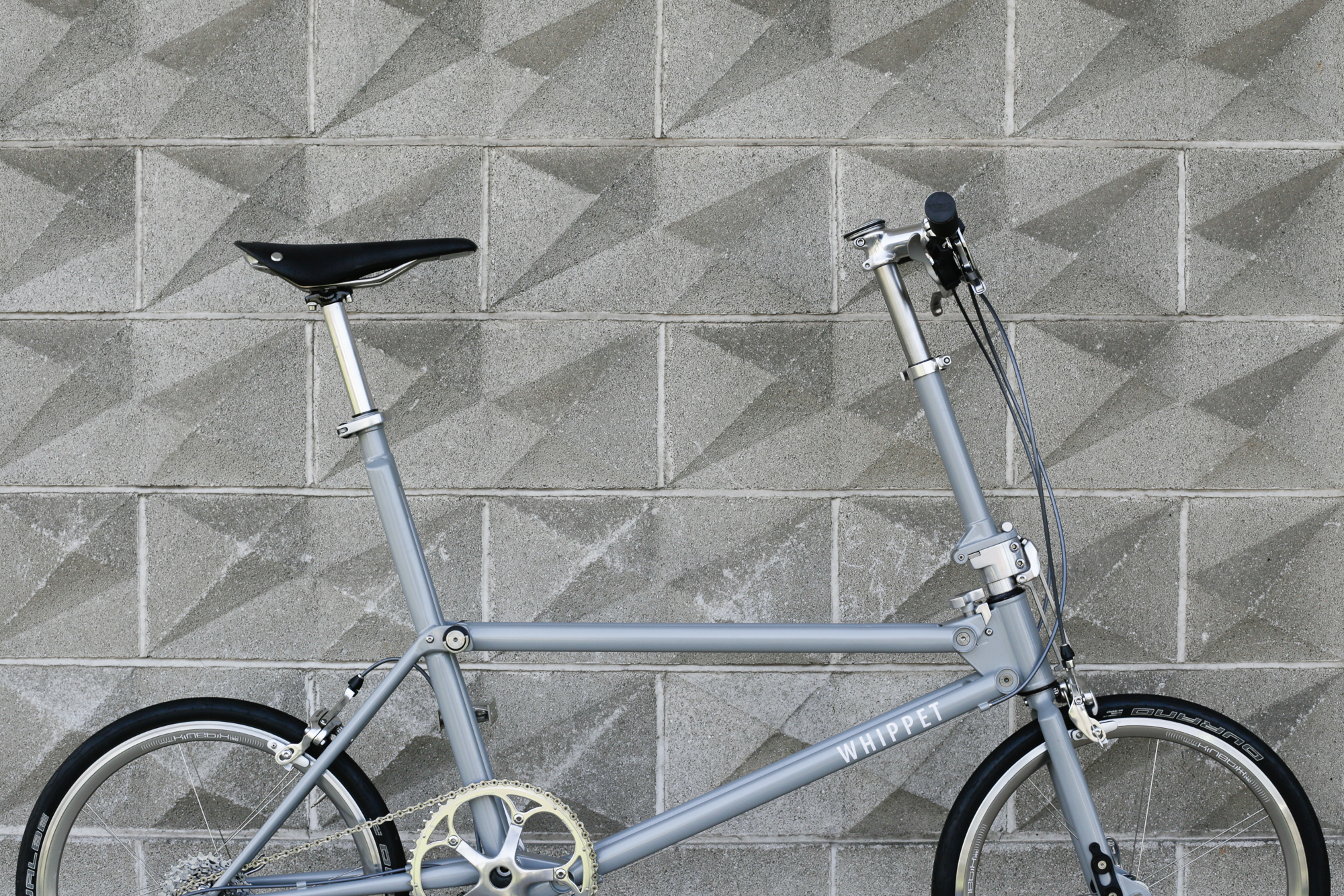 Whippet Bicycle with concrete background