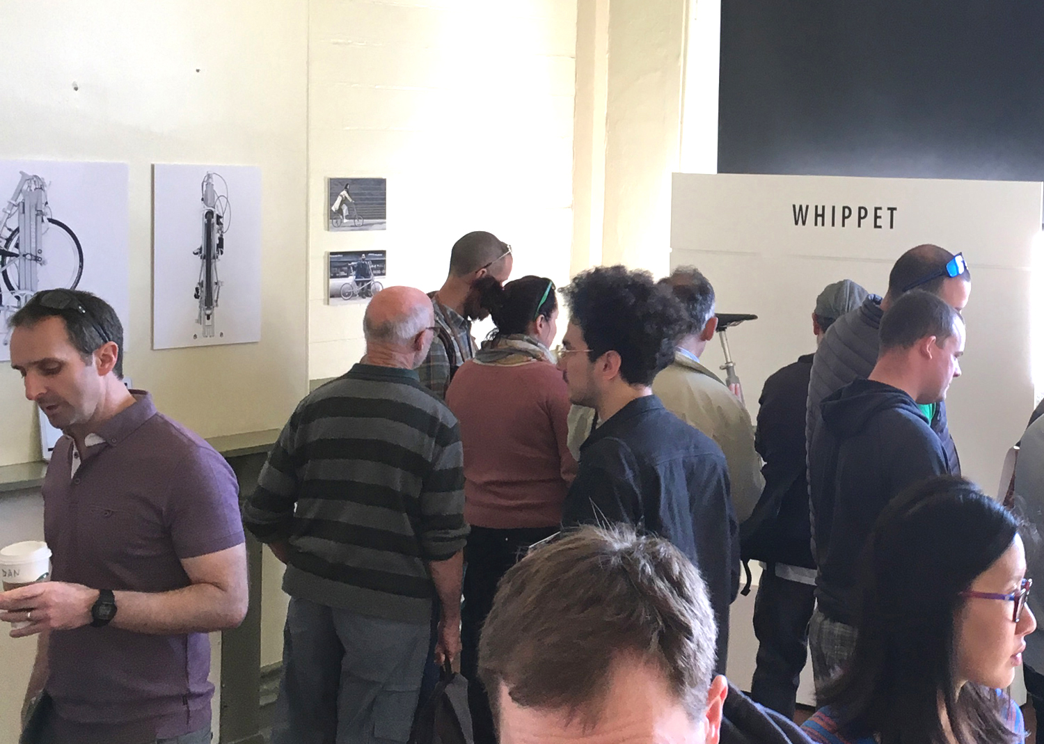 WHIPPET BICYCLE at Bespoked 2017 - busy stand-.JPG