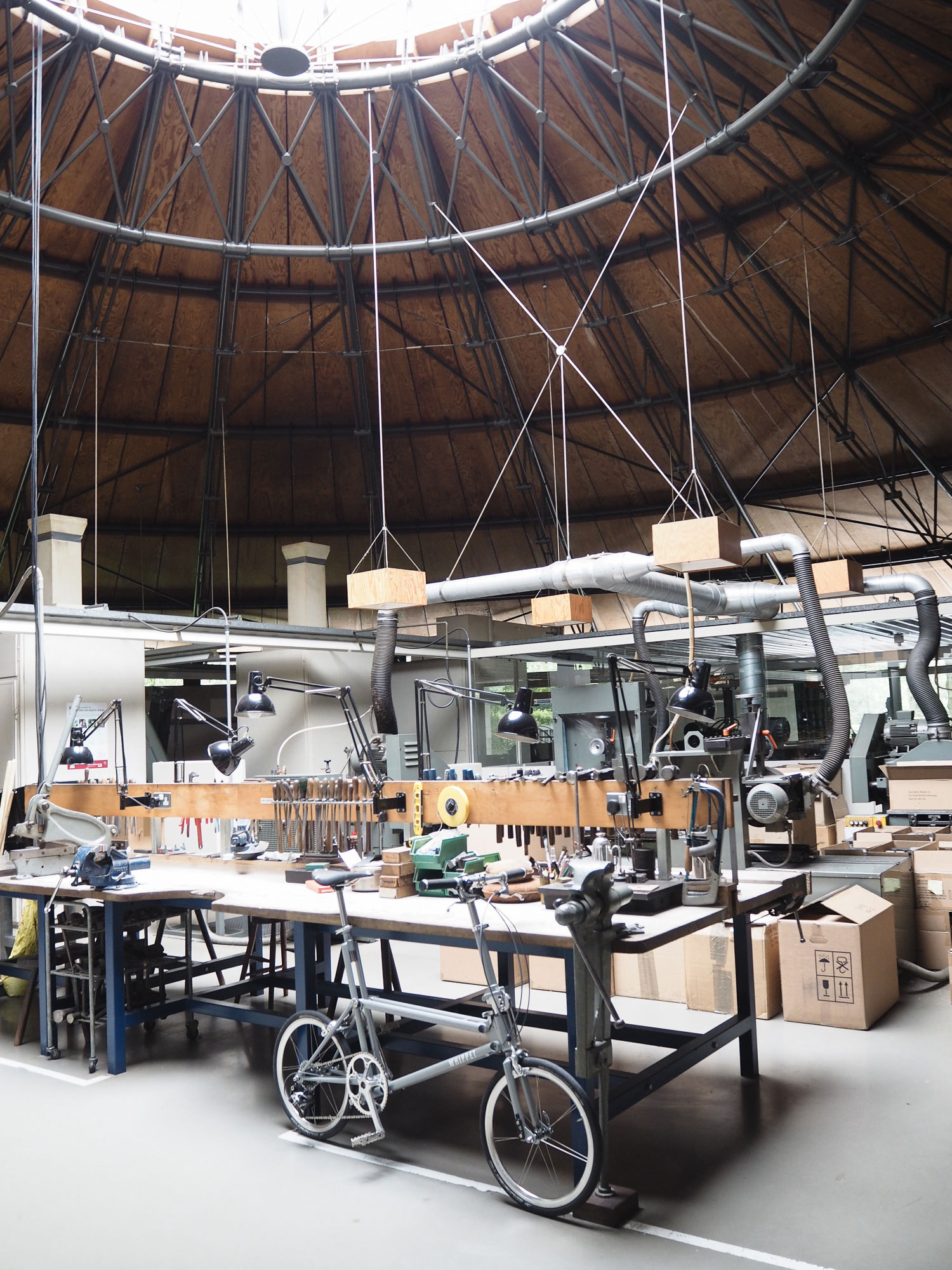 Whippet-Bicycle-at-David Mellor-Round-Building-Factory-Prototyping-Bench.jpg