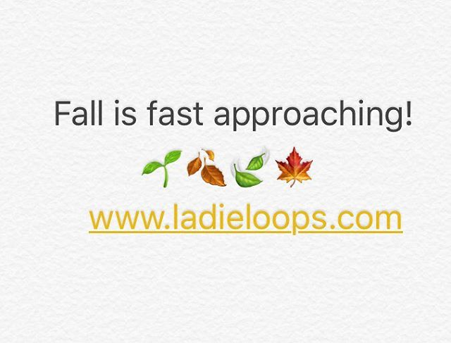 Our favorite season is almost here! #Fall 🌱🍂🍃🍁