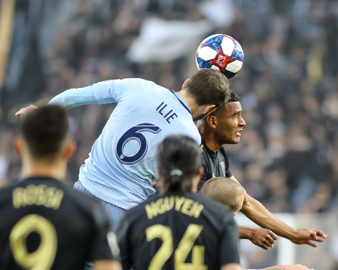 Los Angeles Football Club vs Sporting KC at Banc of California Stadium in Los Angeles, CA. March 03, 2019. Photo by Jevone Moore