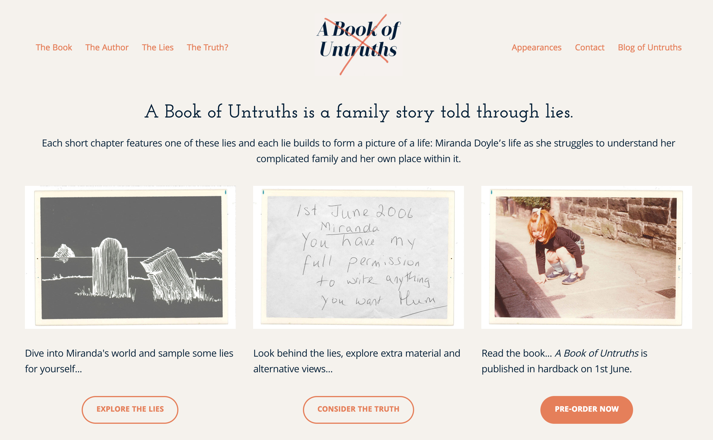 Click to view the website for A Book of Untruths