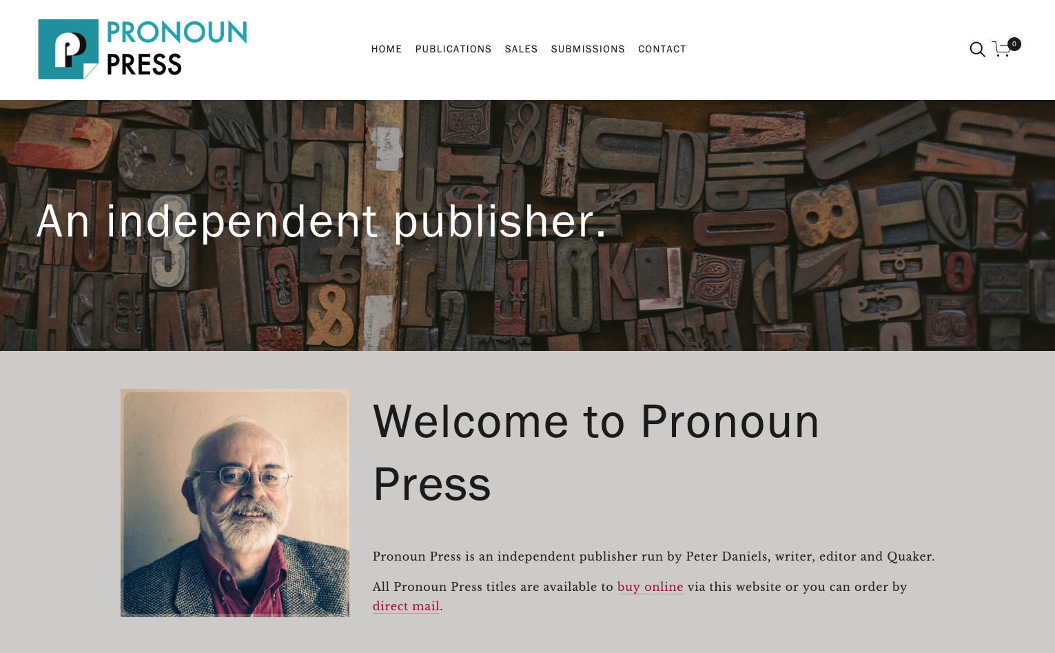 The new look Pronoun Press website.