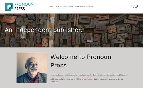 Pronoun Press website