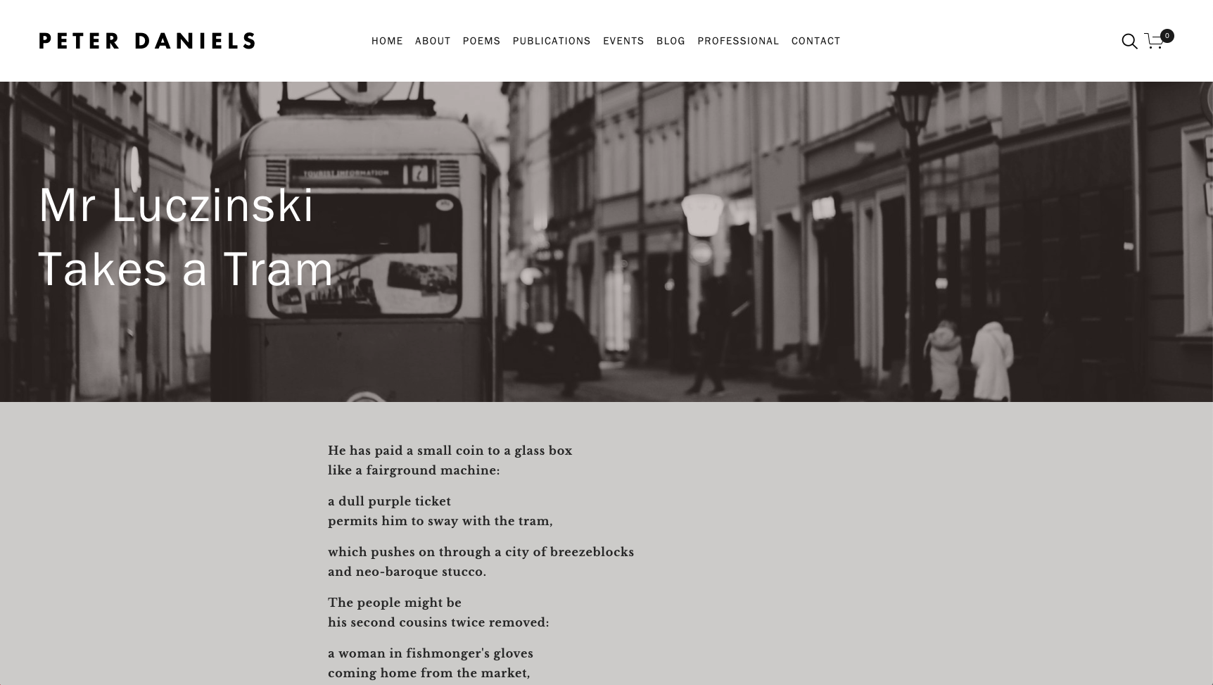 Peter Daniels poems online