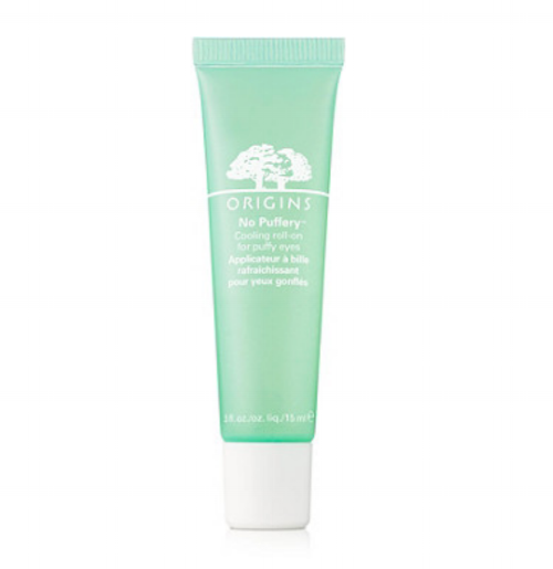 Origins No Puffery - Travel can not only make you feel tired but look tired too! This cooling roll-on treatment de-puffs under-eye bags and brightens dark circles leaving eyes refreshed.
