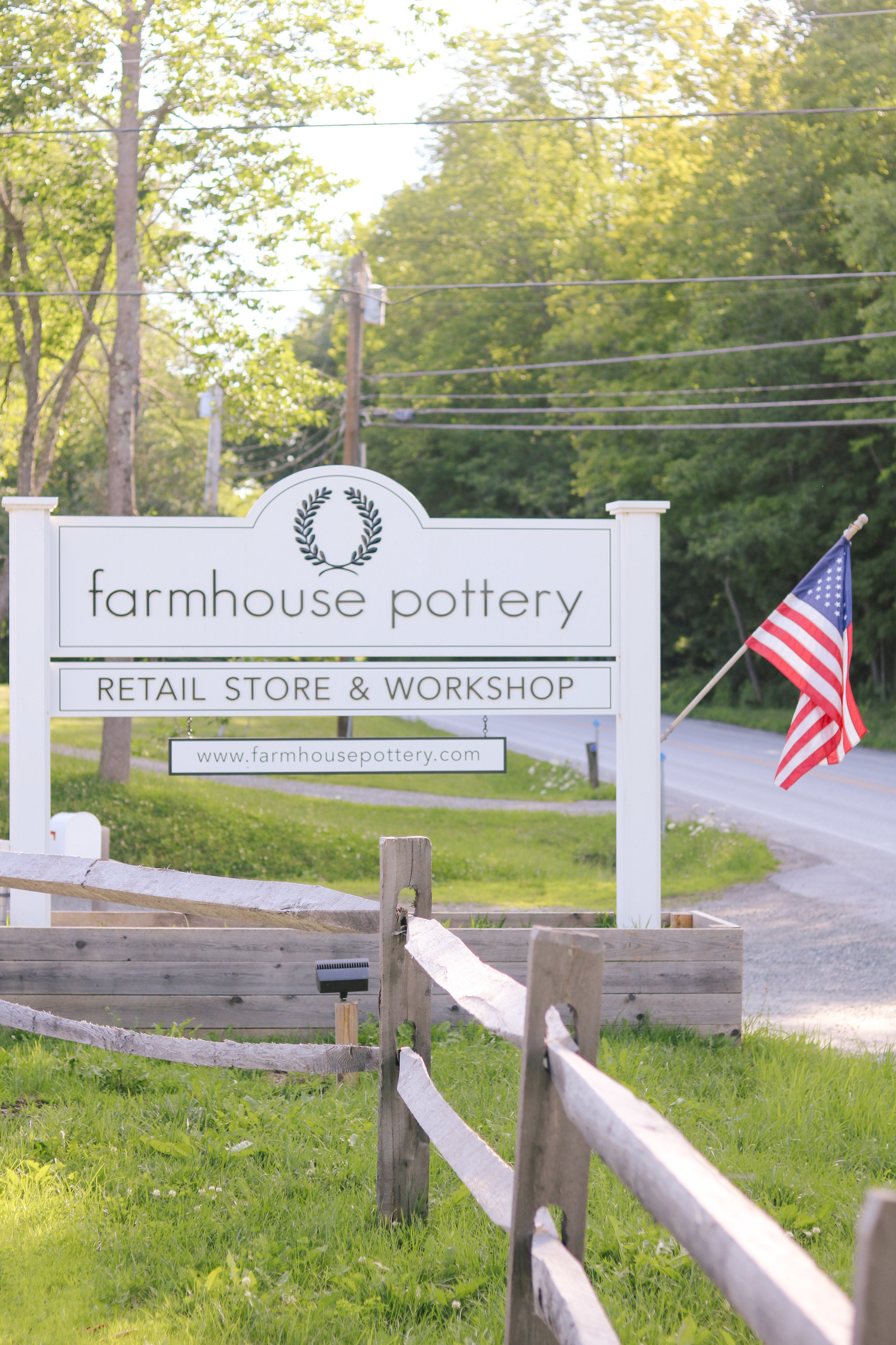 Farmhouse Pottery in Woodstock, VT - by Courtney Brown