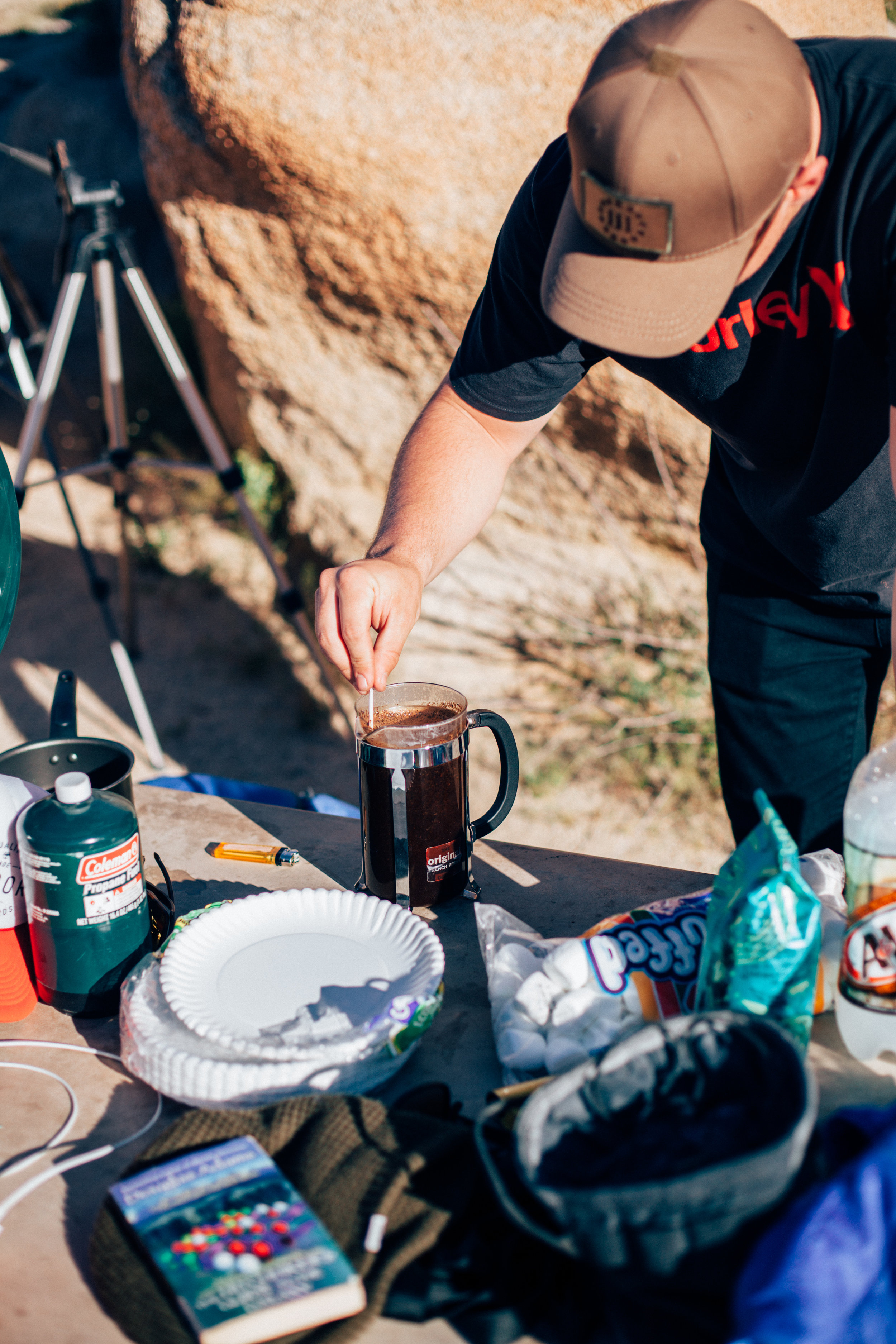 What happens when you bring a barista camping...