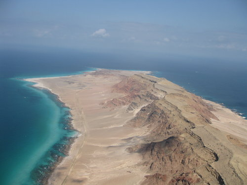 Eastern end of the island Socotra / Yemen. Picture taken in 2012 when flying a paraglider.
