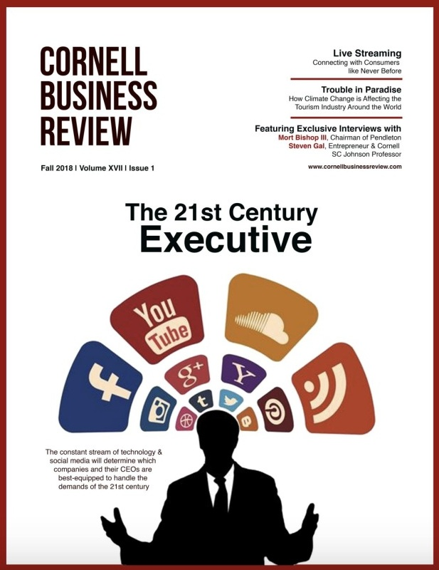 FALL 2018 - Featuring Exclusive Interviews with Mort Bishop III, Chairman of Pendleton Steven Gal, Entrepreneur & Cornell SC John Professor