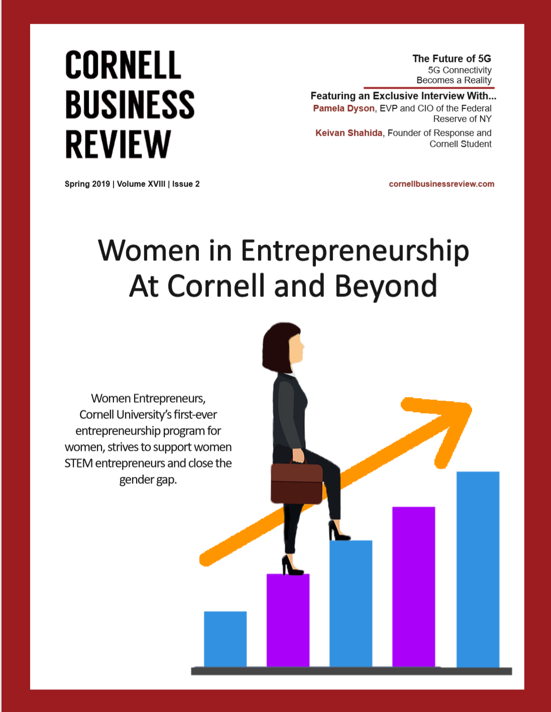 SPRING 2019 - Featuring Exclusive Interviews with Pamela Dyson, EVP and CIO of the Federal Reserve of NY & Keivan Shahida, Entrepreneur and Cornell Student