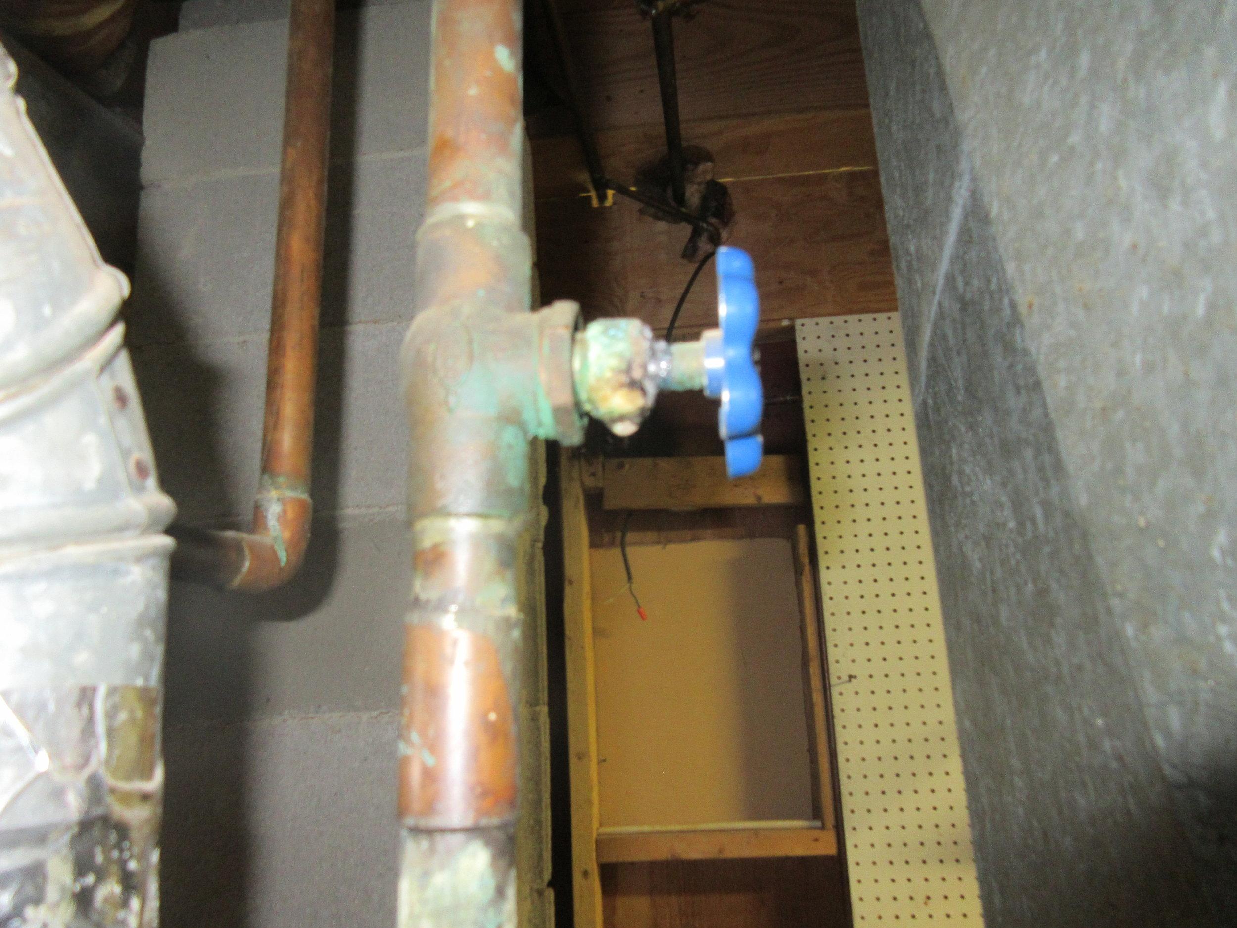 water heater valve inspection