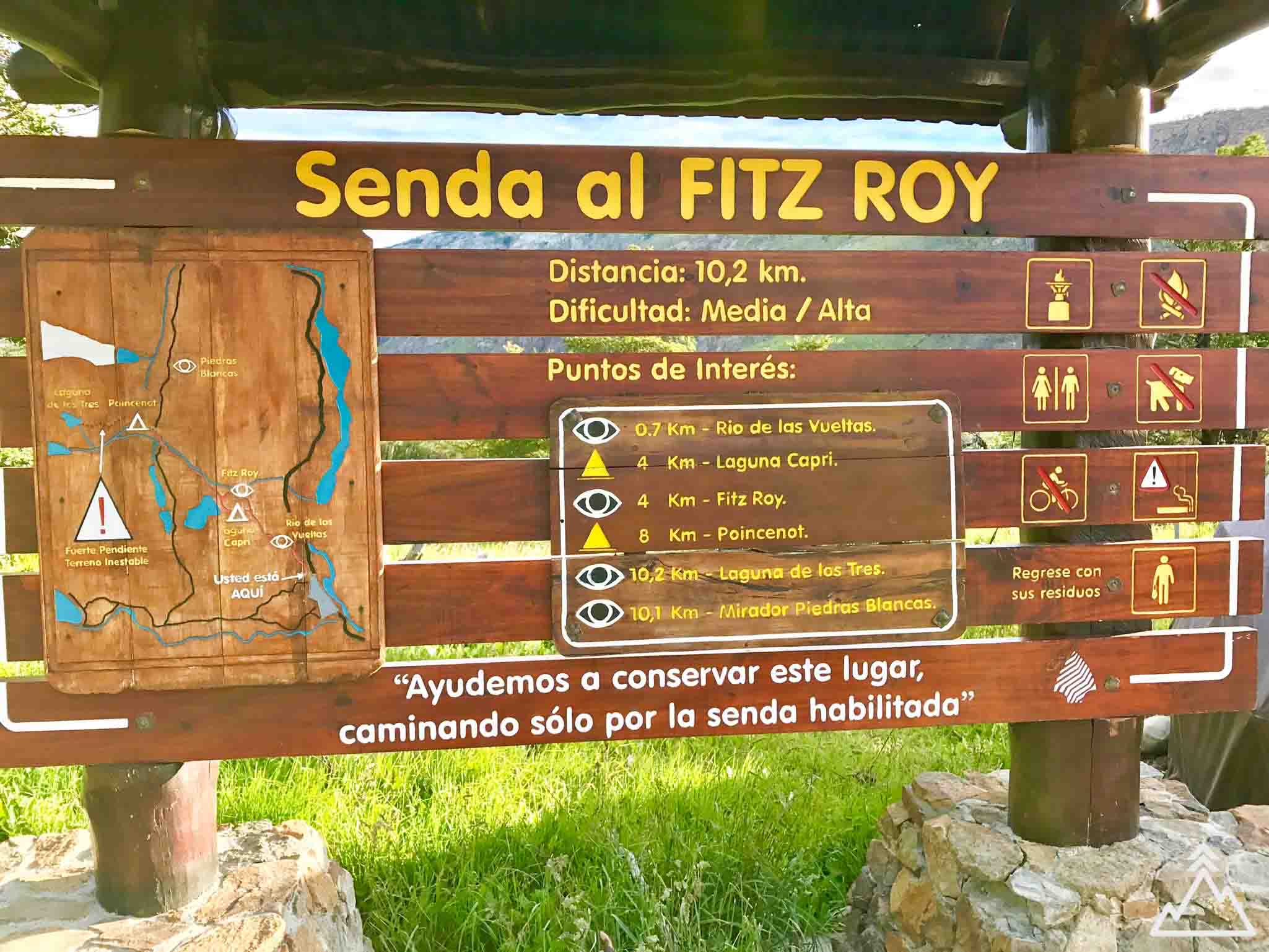 Fitz Roy Hike starting point