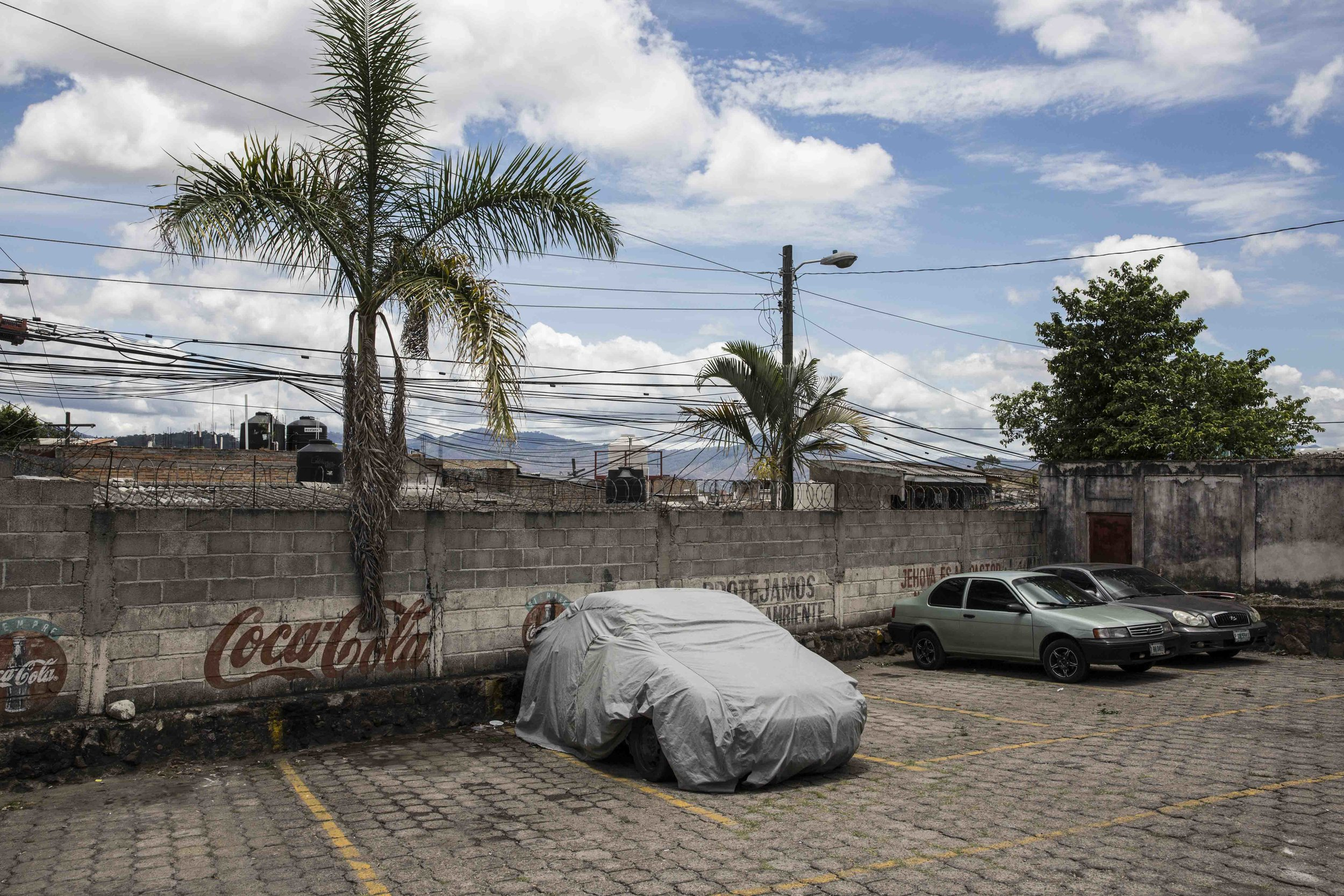 On the streets of Suyapa, one of the most dangerous neighborhoods of Tegucigalpa.