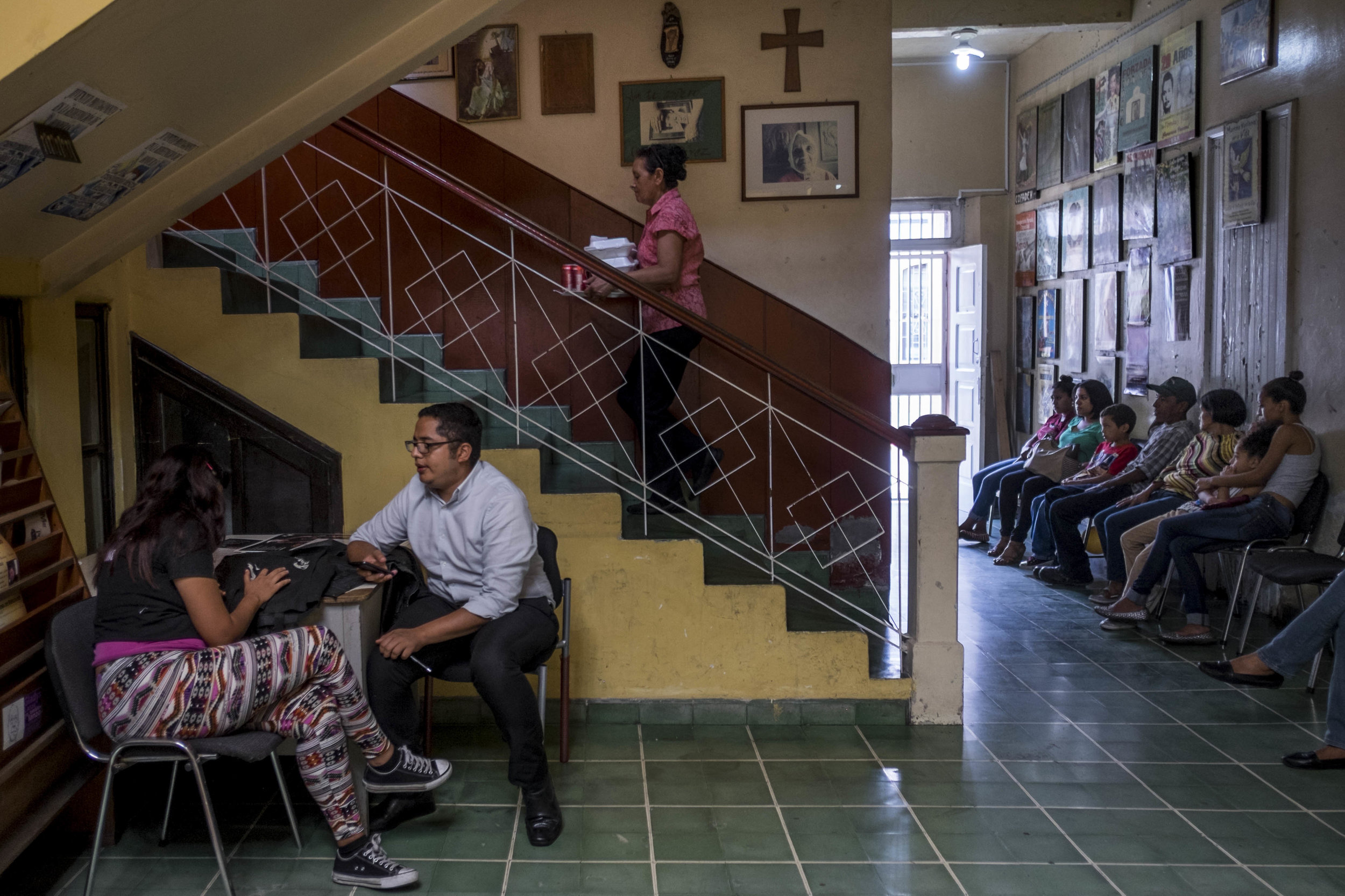 Inside the headquarters of COFADEH (Committee for Relatives of the Disappeared in Honduras), an organization that documents human rights violations, and works to help the relatives of victims of enforced disappearances and assassinations.