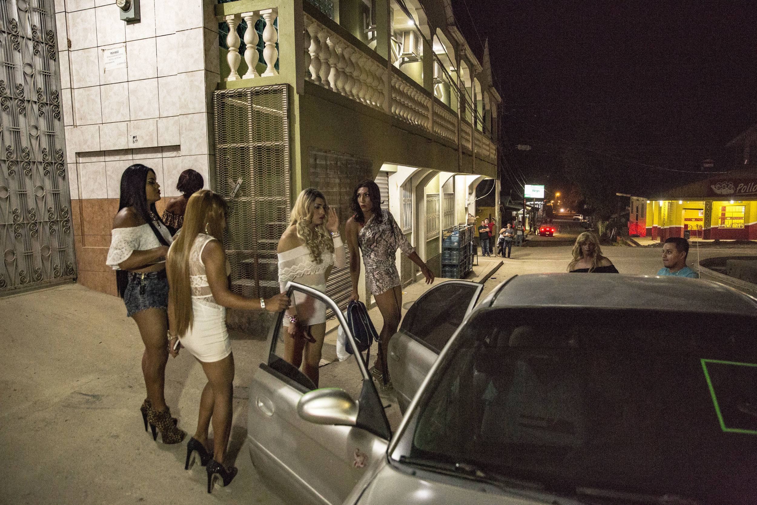 Briana and other friends, also transgender, head to a party while people of the small town watch them with curiosity.