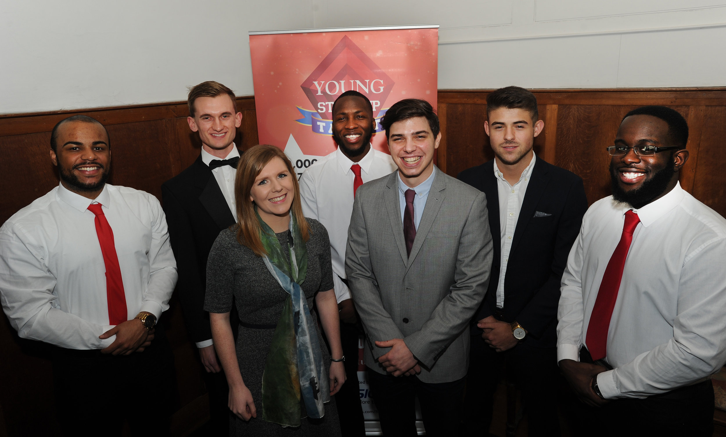 YST Brighton finalists - left to right Ardie Yilinkou, George Lengyel, Georgia Crawford, Junior Fassim, Andreas Georgiades, Jack Maddalena and Gabriel Meidt