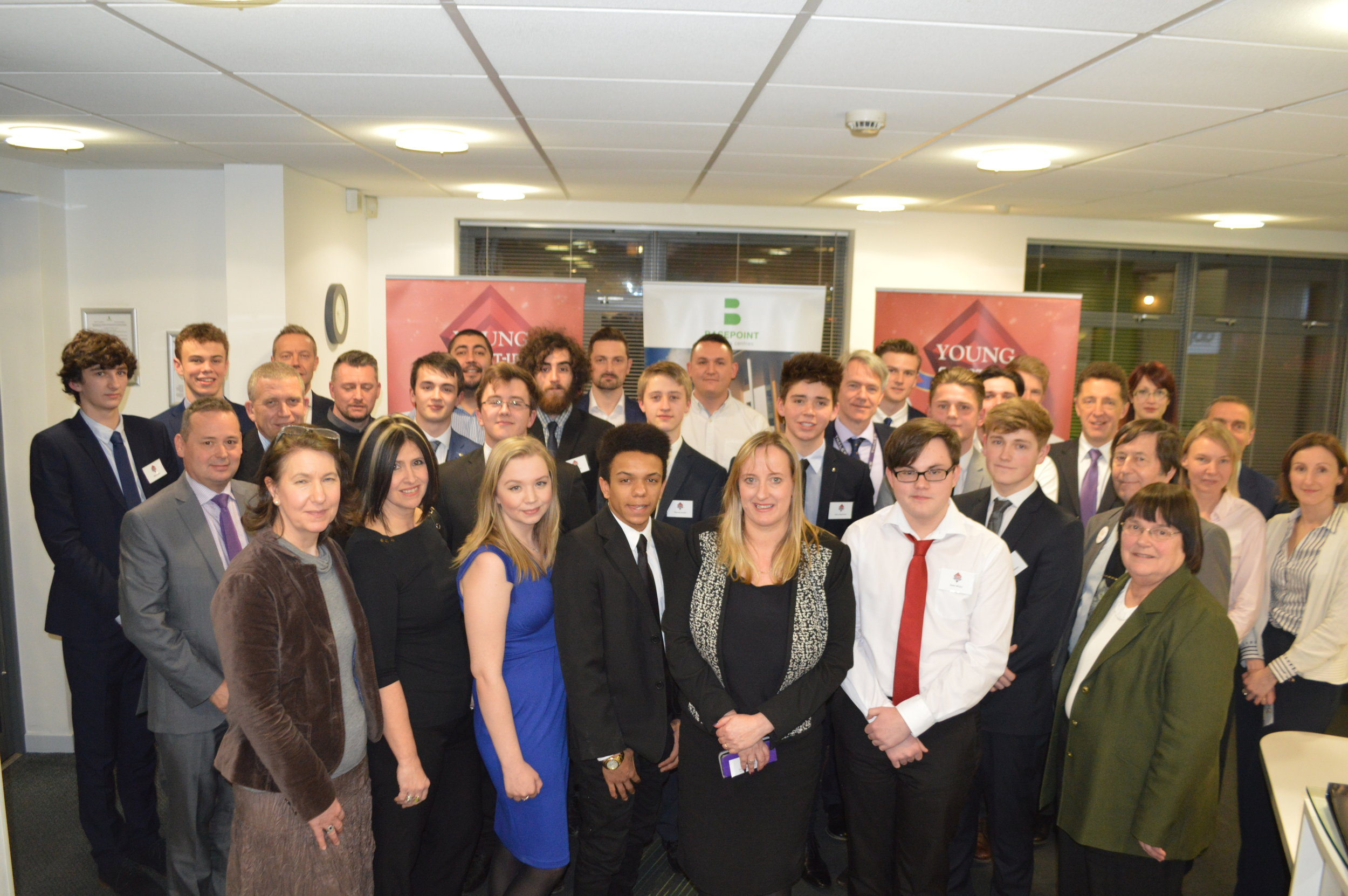 YST Gatwick Diamond candidates and sponsors at Basepoint Business Centre - Crawley