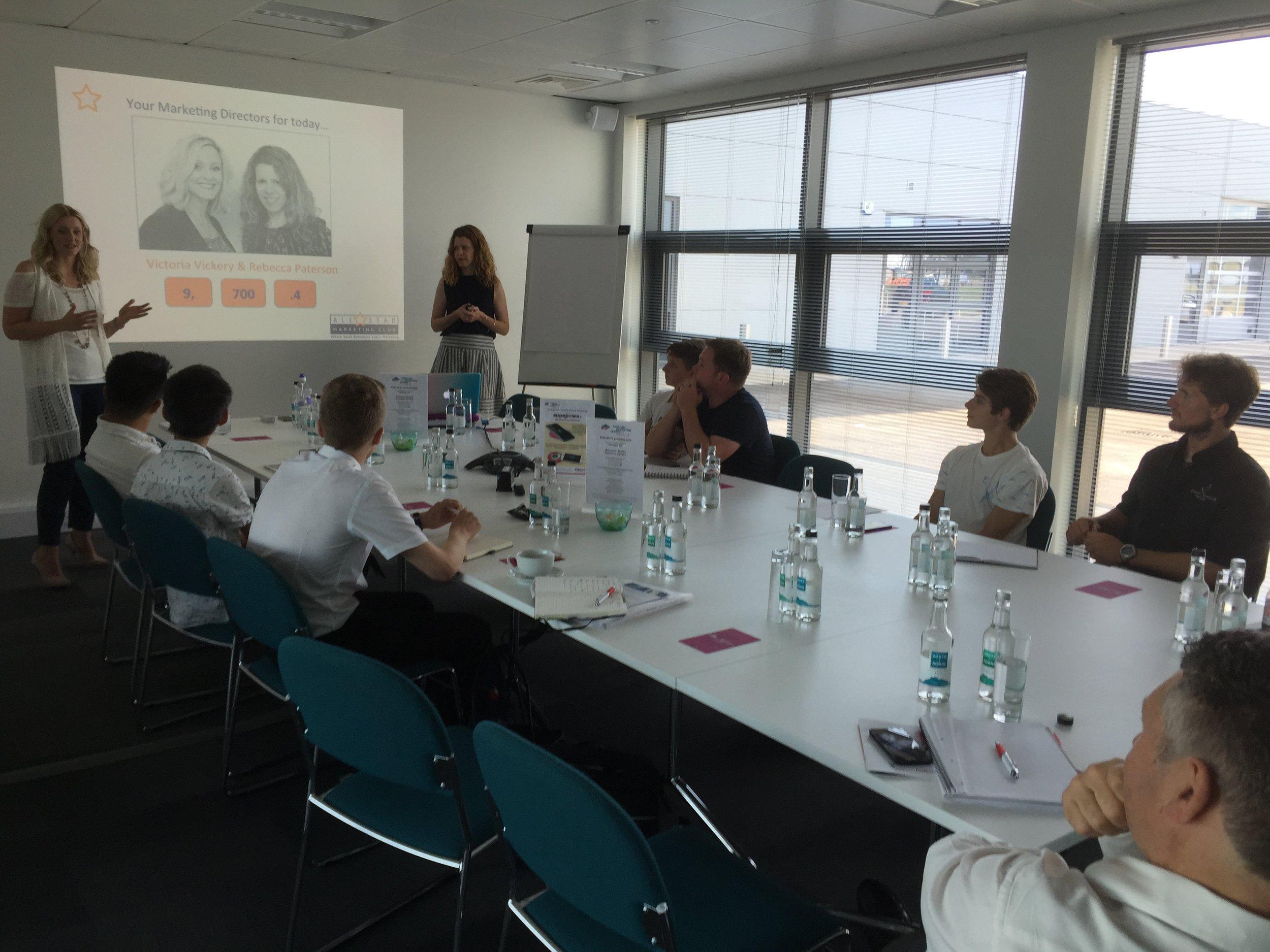YST workshop with All Start Marketing