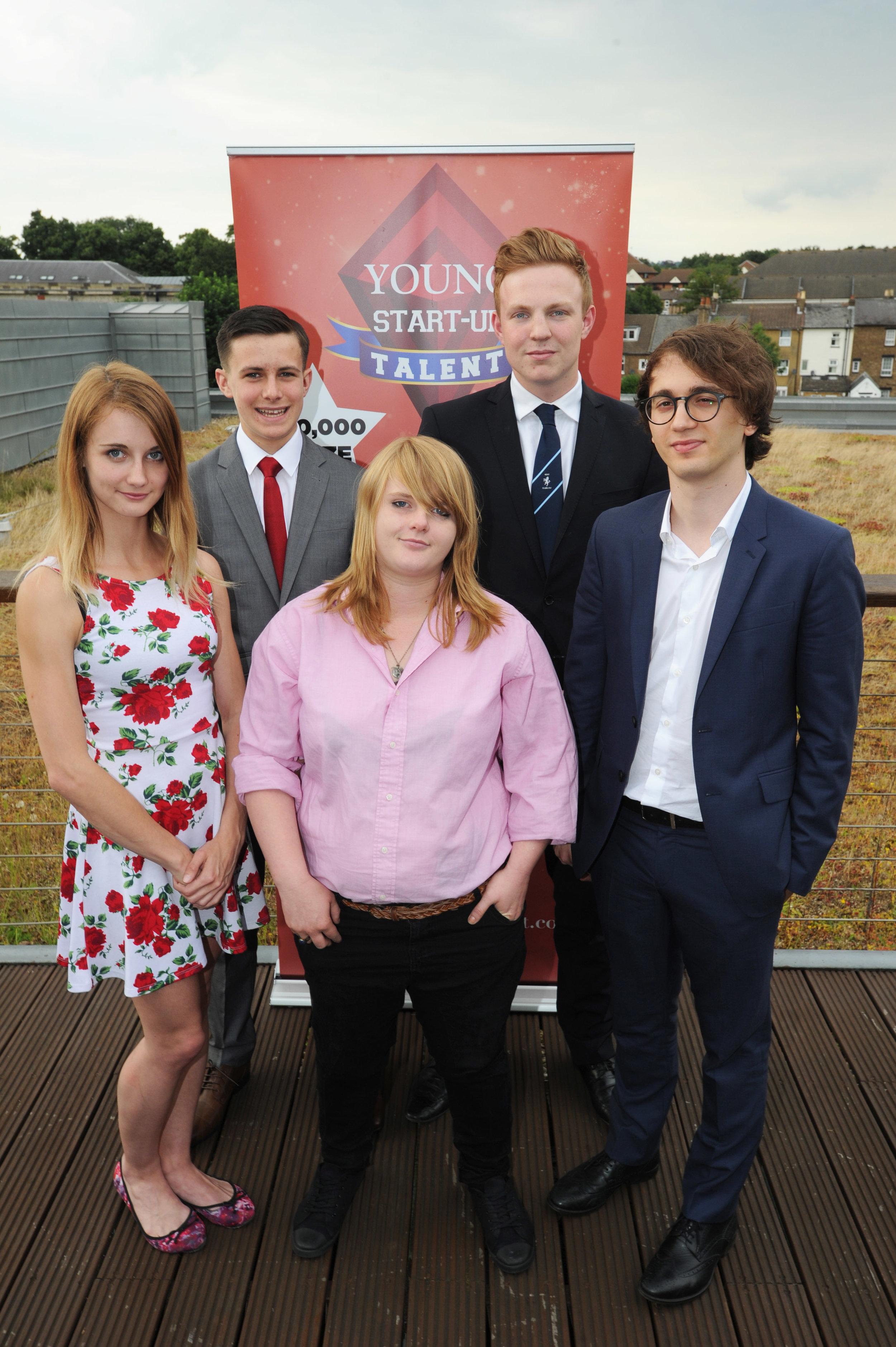 YST Kent finalists 2016 – Left to Right Kelly Culver, Jonathan Wood, Serena Christie, Ben Jeffries, Edoardo Abati