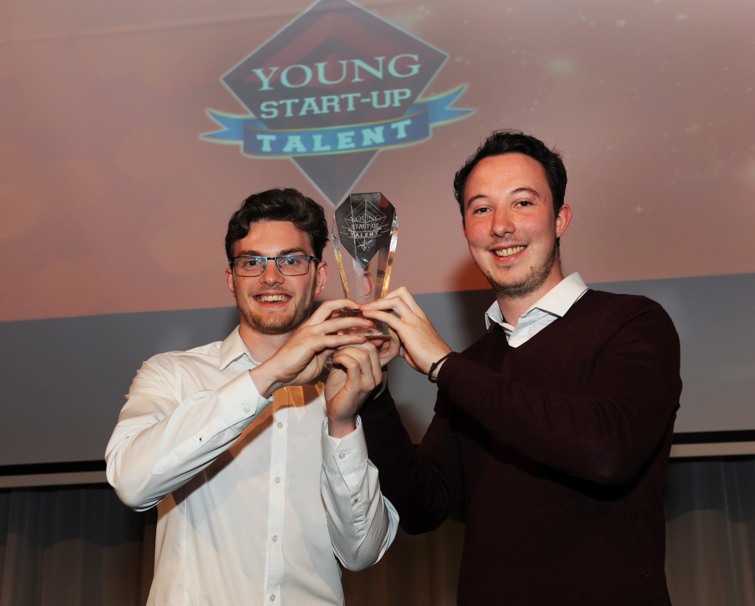 Laurence Grant & Rob O'Sullivan – Shaking Hands Young Start-up Talent winners Croydon 2016