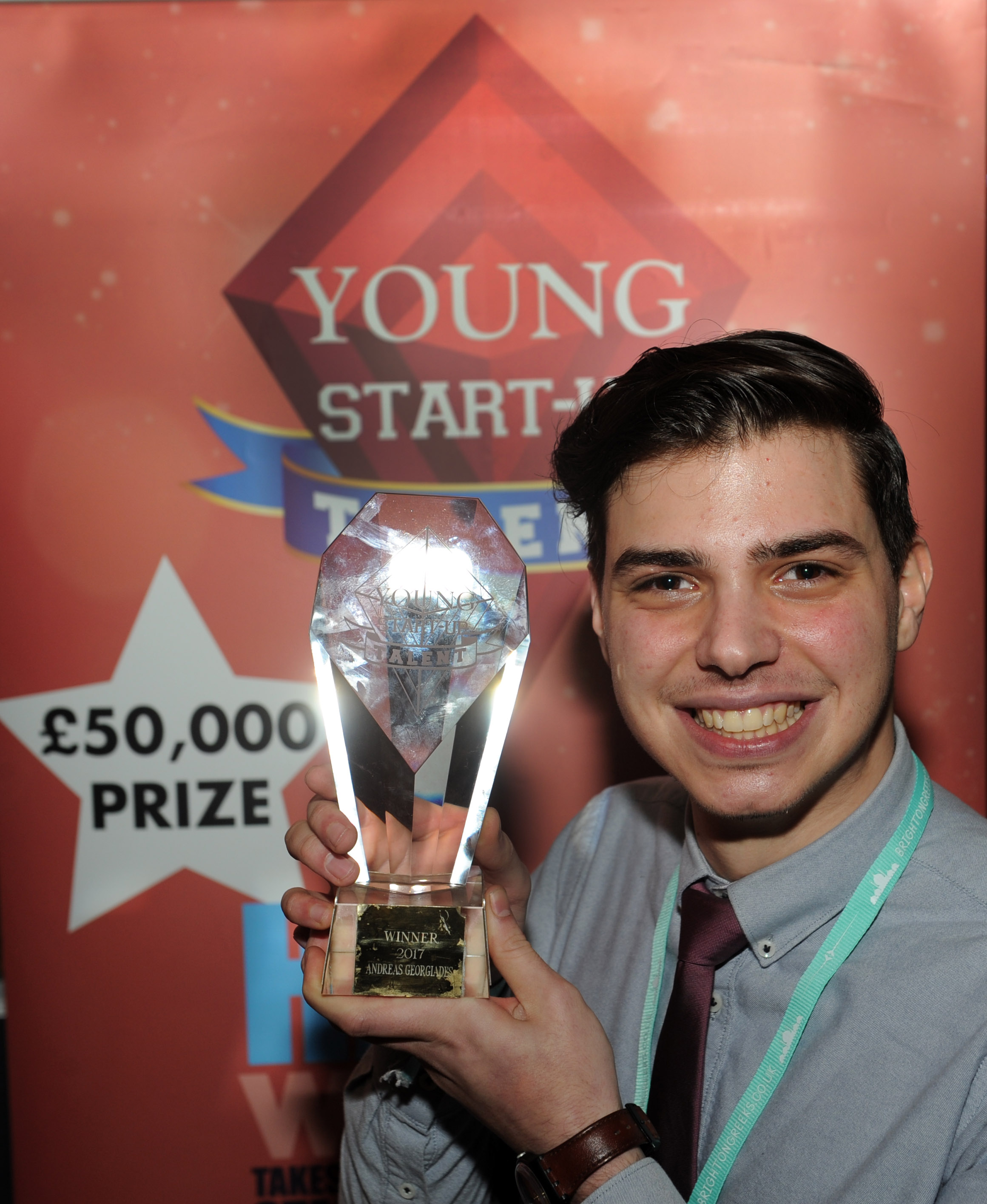 Andreas Georgiades - Brighton Greeks - YST Brighton winner 2017